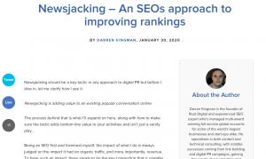 newsjacking for links